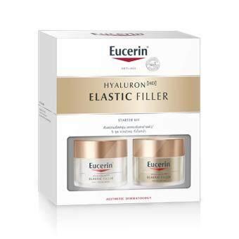 Eucerin Elastic Filler Starter Kit (Day & Night Cream 20+20ml) ชุดบำรุงผิวหน้าและลำคอ