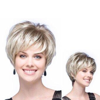 Europe Style Fluffy Short Hair Wig - intl