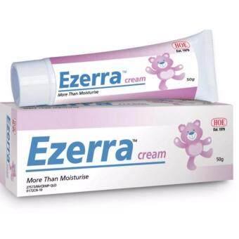 Ezerra Cream (50g) ครีมทาผิวอักเสบ สำหรับผิวแพ้ง่าย ผดผื่น ผื่นแพ้