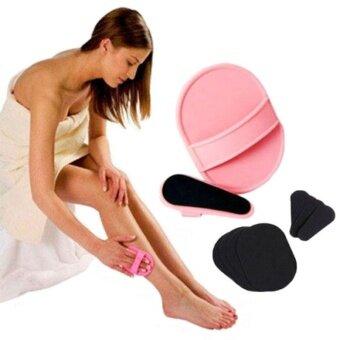 ต้องการขายด่วน Facial Arms Skin Hair Removal Exfoliator Pad Sets Beauty EpilatorSmooth - intl