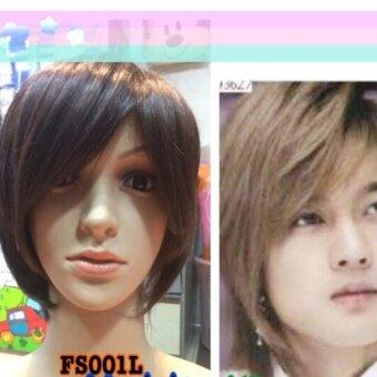 วิกผมสั้น (FS001L#2/33) cala wigs เส้นไหมทนความร้อนสูงจากเกาหลีอย่างดี100%