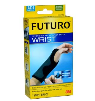 Futuro Wrist อุปกรณ์พยุงข้อมือ ปรับกระชับได้เสริมแถบเหล็ก สีดำ[10770] 1ชิ้น
