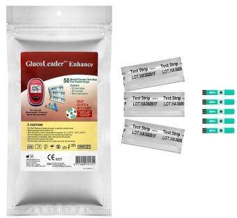 ขอเสนอ GlucoLeader แผ่นตรวจน้ำตาล รุ่น Enhance (ชนิดแพคเดี่ยว) 50ชิ้น
