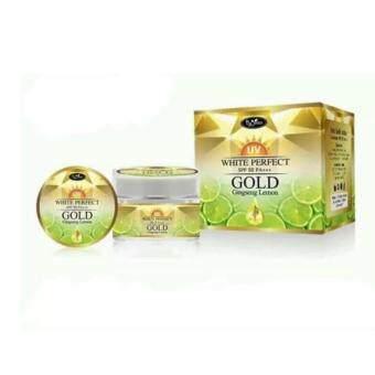 Gold ginseng lemon uv white perfect SPF 50 PA+++ by jeezz (ครีมบำรุงผิวหน้า สูตรกลางวัน ) 10 กรัม (1 กล่อง)