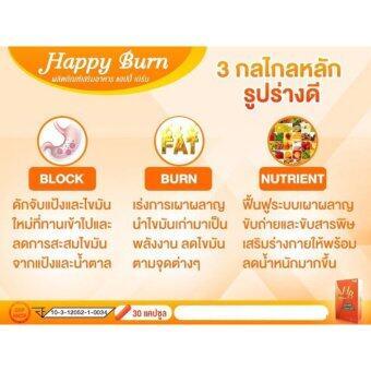 Happy Burn แฮปปี้ เบิร์น ผอมง่าย ไม่เยอะ!! เป็นผลิตภัณฑ์อาหารเสริมลดน้ำหนัก ควบคุมน้ำหนัก ทำให้หุ่นกลับมา ผอมเพรียว ดูดีไม่มีโทรมจากสารสกัดจากธรรมชาติแท้ 100% (1 กล่อง) - 5