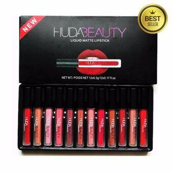 Huda Beauty Liquid Matte Lipstick Set 12 Color 12 แท่ง 12 สี