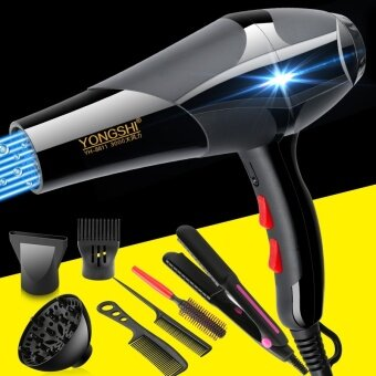 Hundred sharp computer hair dryer industrial blower blowing and suction dual-use high-power adjustable dust collector home - Salon edition 3000 buy one get six plus hair straightener YH- - intl