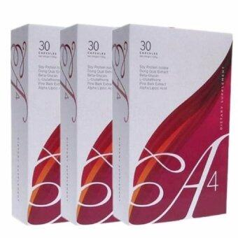 A-4 ผลิตภัณฑ์เสริมอาหารสำหรับผู้หญิง 3 กล่อง (30 แคปซูล/กล่อง)