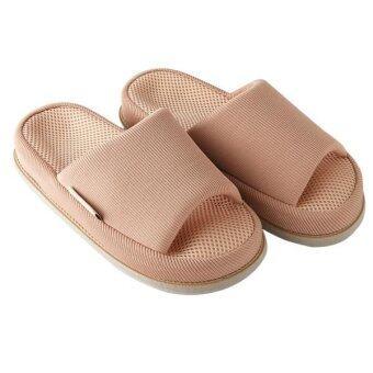 Refre OKUMURA Slippers รองเท้านวดเพื่อสุขภาพ สีชมพูอ่อน size M