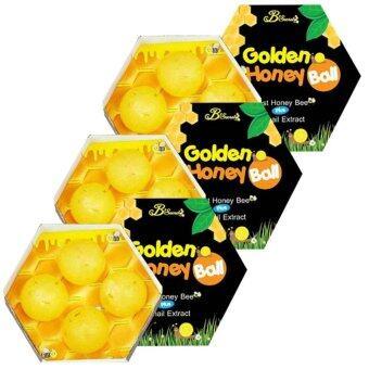 B'secret Golden Honey Ball Snail Extract บี ซีเครท มาส์กลูกผึ้ง มาส์กแล้วใส ใช้แล้วตึง ลดสิวอักเสบ 3 กล่อง