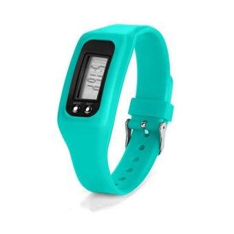 HAZU นาฬิกานับก้าวเดิน HAZU W2 วัดแคลอรี่ วัดระยะทางกิโลเมตร เครื่องนับก้าว (สีเขียวอ่อน) DigitalLCD Pedometer Run-Step Walking Distance Calorie Counter