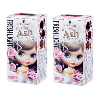 Schwarzkopf Freshlight Foam color - Airly Ash95ml โฟมเปลี่ยนสีผมสีน้ำตาลเทาอ่อนจำนวน 2 กล่อง (กล่องรุ่นใหม่)