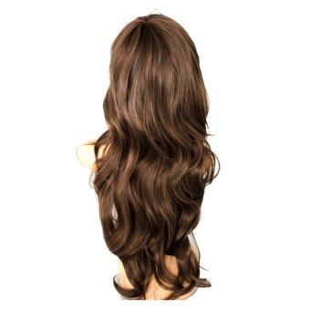 Harga Sexy Womens Girls Fashion Style Wavy Curly Long Hair Girl Full Wigs Light Brown