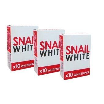 Snail White Soap x10 Whitening สบู่หอยทากฟอกผิว 70g. (3 ก้อน)