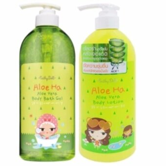 Harga Karmart Cathy Doll Aloe Ha Aloe Vera Body Lotion 600ml. 1ขวด + Cathy Doll Aloe Ha Aloe Vera Body Bath Gel 750 ml. 1ขวด