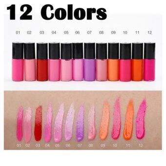 Liquid Lip Gloss Set 12 สี ลิปกลอส สีลูกกวาด 12 สี