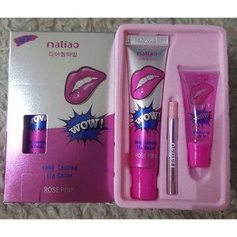 Maliao Wow! Long Lasting Lip Color ว้าว ลิปลอก ลิปแทททู เปลี่ยนปากซีดให้เป็นปากสวยแบบธรรมชาติ สวยติดทนนาน 24 ชั่วโมง ROSE PINK (1 แท่ง)