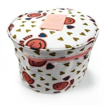 กระเป๋าเก็บเครื่องสำอางค์ - WEEKEIGHT Toiletry Pouch ทรงกระบอก (สีขาว)