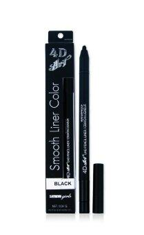 SAYNOW Girls 4D ART UHD PENCIL LINER / CRAYON LIGNEUR (BLACK)ดินสอเขียนขอบตาแบบเจล (0.34 ml.) (BLACK)