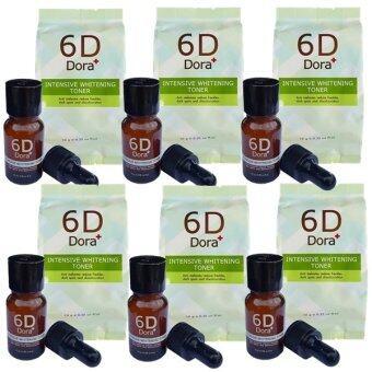 6D Dora+ Intensive Whitening Toner (6D Dora+ โทนเนอร์สลายฝ้า กระ) 6 ขวด