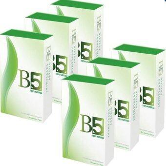 B5 slim อาหารเสริมลดน้ำหนัก กระชับสัดส่วน 30 แคปซูล (6 กล่อง)