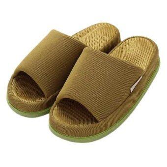 Refre OKUMURA Slippers รองเท้านวดเพื่อสุขภาพ รองเท้าเพื่อสุขภาพ รองเท้าใส่ในบ้าน สีเขียวเข้ม (Size L)