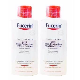 (2 ขวด x 400 ml.) Eucercin pH5 WASHLOTION for body and face ครีมอาบน้ำ ใช้ได้ทั้งใบหน้าและร่างกาย ขนาด 400 ml