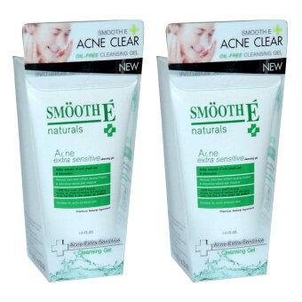 Smooth E Acne Extra Sensitive Cleansing Gel 1FL.OZ. (2หลอด) สมูทอี แอคเน่ เอ็กซ์ตร้า เซนซิทีฟ คลีนซิ่ง เจล