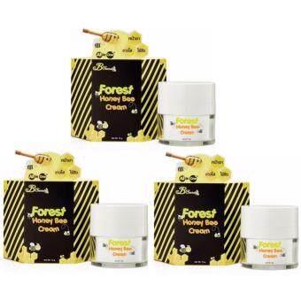 B'Secret Forest Honey Bee cream ครีมน้ำผึ้งป่า บรรจุ 15g (3 กล่อง)
