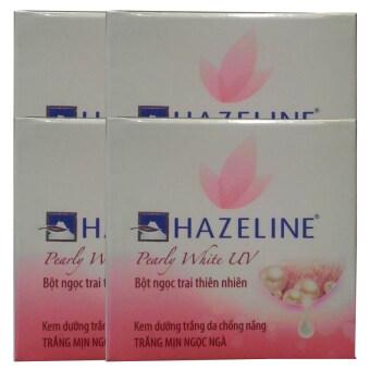 Hazeline Whitening Cream Pearly White UV ครีมบำรุงผิวหน้าอุดมไปด้วยคุณค่าสารสกัดจากไข่มุกธรรมชาติให้ผิวขาวกระจ่างใสเปล่งประกายดุจไข่มุก ปกป้องผิวจากแสงแดด พร้อมเติมความชุ่มชื่นให้กับผิว เนียนนุ่ม ขาวกระจ่างใส 45g (4 กล่อง)