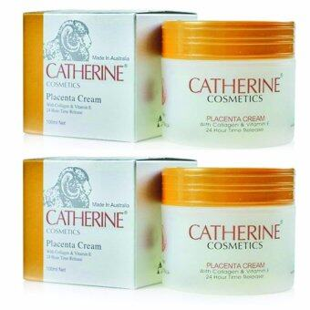 ครีมรกแกะ Catherine Placenta Cream with Collagen & Vitamin E ชุดคู่