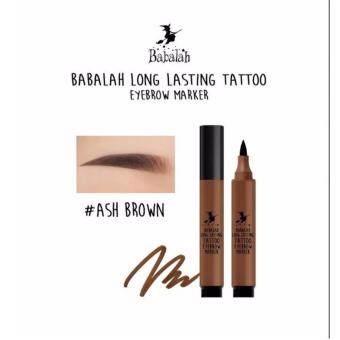 Babalah Long Lasting Tattoo Eyebrow Marker #02 Ash Brown ปากกาเมจิกสักคิ้ว บาบาร่า น้ำตาลเข้ม 1 กล่อง