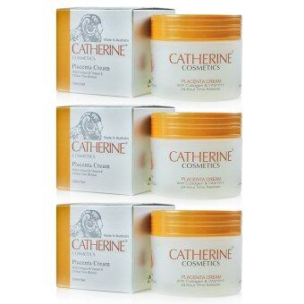 Harga Catherine Cosmetics Placenta with Collagen and Vitamin E 100 ml. แพค 3 กระปุก