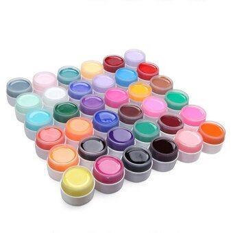 Elenxs 12 หม้อยูวีเจลทาเล็บเล็บสำหรับซ่อมนู่นตอกเล็บสีตกแต่งศิลปะอันงดงาม