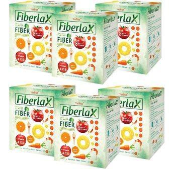 Verena Fiberlax (ไฟเบอร์แล็กซ์) ผลิตภัณฑ์เสริมอาหารล้างสารพิษในลำไส้ กระตุ้นระบบขับถ่าย (10 ซอง) x6 กล่อง