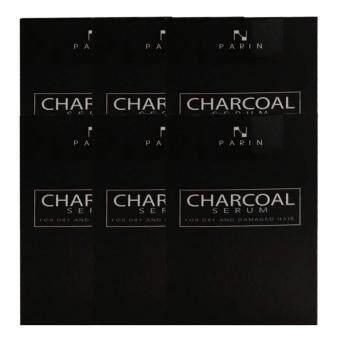 CHARCOAL SERUM BY PARIN ชาโคล เซรั่มบำรุงผมชนิดล้างออก 15ml (6 กล่อง)