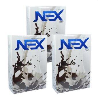 Kudson Exday NEXday เน็กซ์เดย์ Nex day ช็อคโกแลต (Ex day เอ็กซ์เดย์) ลดน้ำหนัก ช่วยให้อิ่มเร็ว เผาผลาญไว (10 ซอง) 3 กล่อง