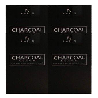 CHARCOAL SERUM BY PARIN ชาโคล เซรั่มบำรุงผมชนิดล้างออก 15ml (4 กล่อง)