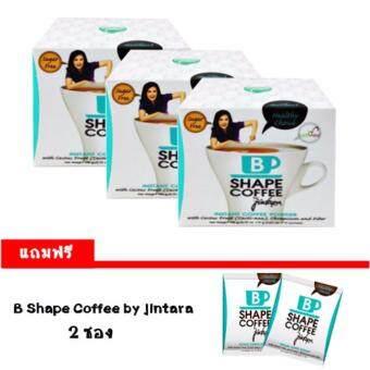 B Shape Coffee By Chintara Healthy Choice ผลิตภัณฑ์กาแฟปรุงสำเร็จชนิดผง บรรจุ 10 ซอง/กล่อง (3 กล่อง)