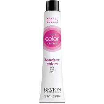 Revlon Nutri color crème ครีมเคลือบและบำรุงเส้นผมแบบหลอด เบอร์ 005 Pink สีชมพูอ่อน (100ml)