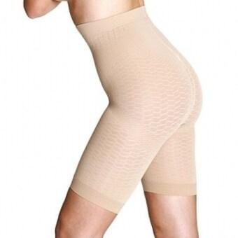 Peachy Pink กางเกงกระชับสัดส่วนแบบเอวสูง - สีเนื้อ