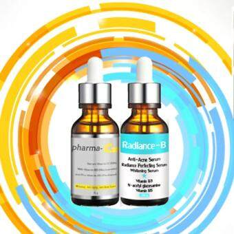 Pharma-C20 & Radiance-B ซื้อคู่ ครอบคลุมครบทุกปัญหาผิวหน้าคุณ สิว หลุมสิว จุดด่างดำจากสิว