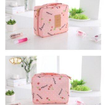 Asia กระเป๋าจัดระเบียบใส่เครื่องสำอางค์ ลาย Cherry Pink