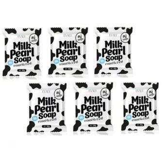 White Pearl Soap สบู่นมมุก มาส์คผิวขาวใส ( 65gX6)