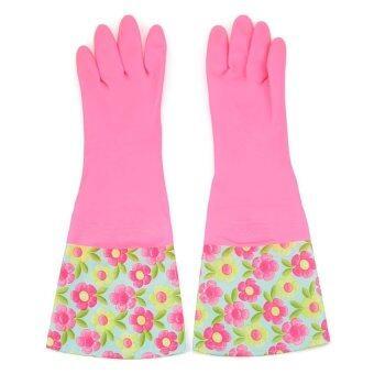 G105587 ซักรีดเสื้อถุงมือกันน้ำเอาดอกไม้
