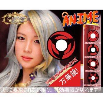 คอนแทคเลนส์ คอสเพลย์ รุ่น Naruto คาคาชิ (สีแดง) ค่าสายตา 0.00 พร้อมตลับใส่