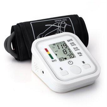 โอ้แบบพกพาจอแอลซีดีดิจิตอลมิเตอร์มือหัวใจความดันโลหิตวัดเสียงใหม่