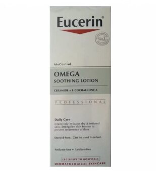 (1 ขวด) Eucerin Ato Control (12% Omega เปลี่ยนโฉม) Soothing Lotion Ceramide + Licochalcone A ยูเซอริน โอเมก้า ชูทติ้ง โลชั่น บำรุงผิวกาย สำหรับผิวแห้งและระคายเคืองง่าย 250 ML 1 ขวด