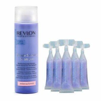 Revlon Blonde sublime shampoo + Blonde booseter set แชมพูพร้อมทรีตเม้นท์เข้มข้น สำหรับผมสีเทา สีบอลนดเขียว และสีสว่างไฮไลท์