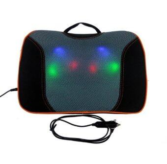 Sassy เบาะนวดไฟฟ้า 3D massage ระบบลูกกลิ้ง 6 ลูก ในบ้าน รถยนต์ - dark brown